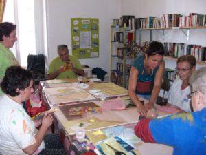 Ateliers artistiques créatifs aide handicap psychique